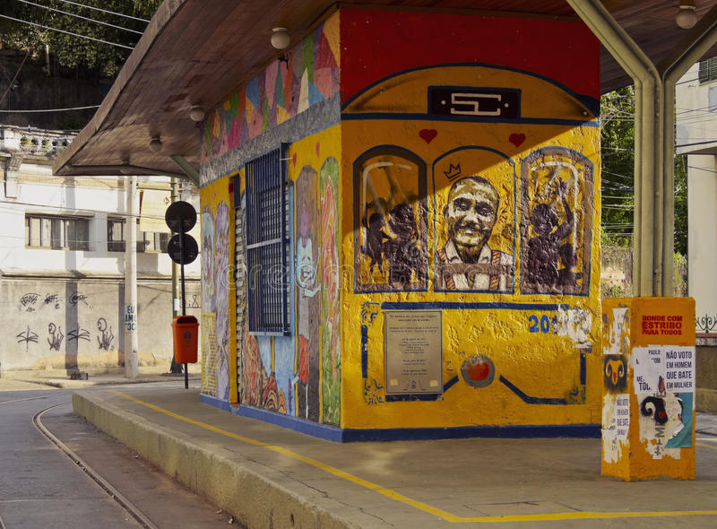 Santa Teresa Tram in Rio stock fotografie