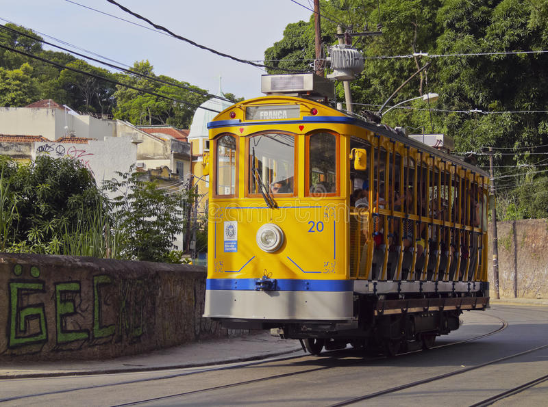 Santa Teresa tramwaj w Rio obrazy royalty free