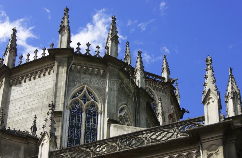 Santa Teresita Detail in Quito, Ecuador stock images