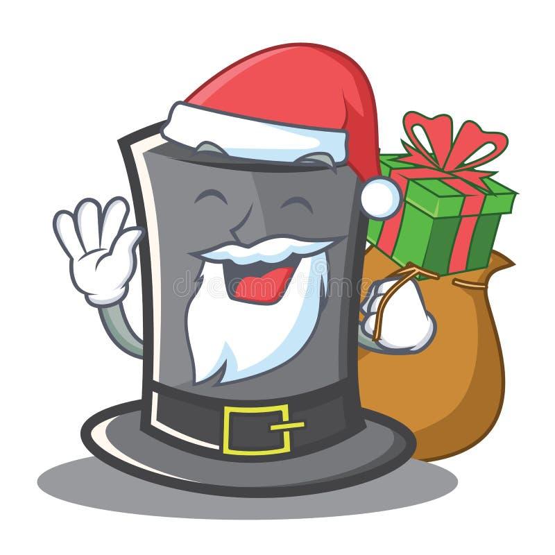 Santa Thanksgiving-Hutcharakterkarikatur stock abbildung