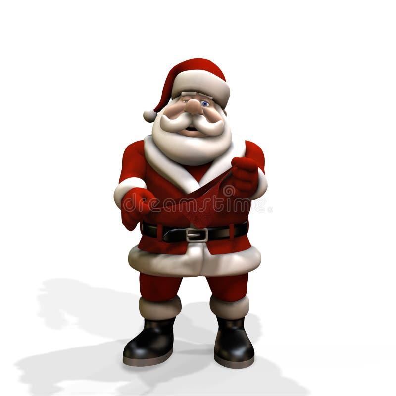 Santa Thong vector illustration