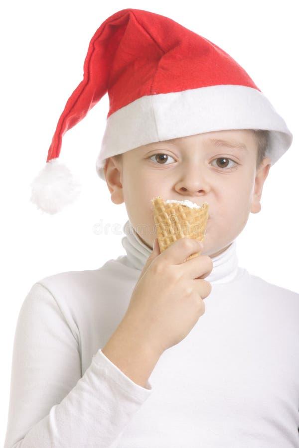 Download Santa Tiene Gusto Del Helado Foto de archivo - Imagen de hielo, ojos: 7277046