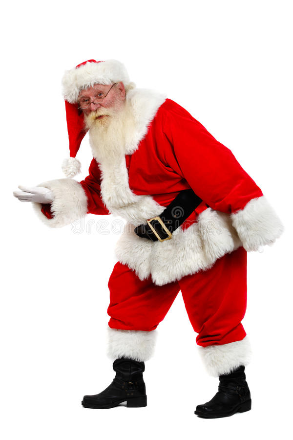 Download Santa tiptoe stock image. Image of senior, male, secretly - 12238679