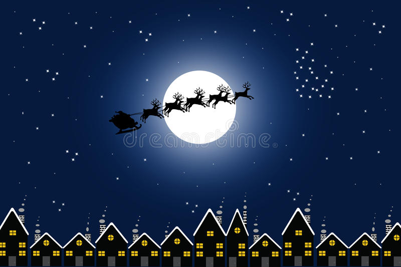 Download Santa And Town Stock Photo - Image: 16901800