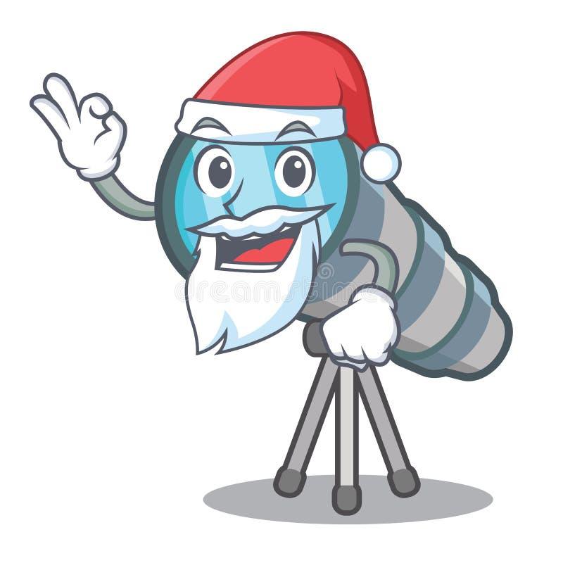 Santa toy telescope in a cartoon chair. Vector illustration vector illustration