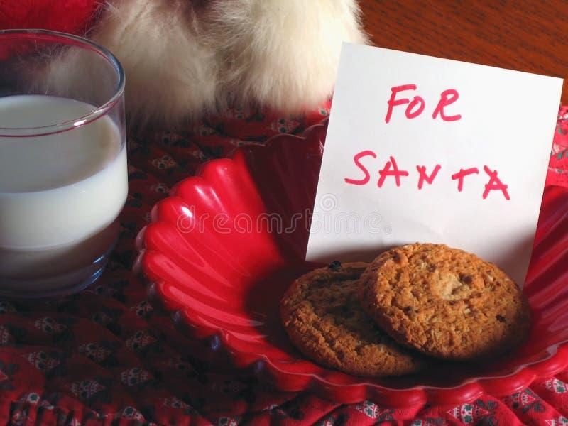 santa treat arkivbild