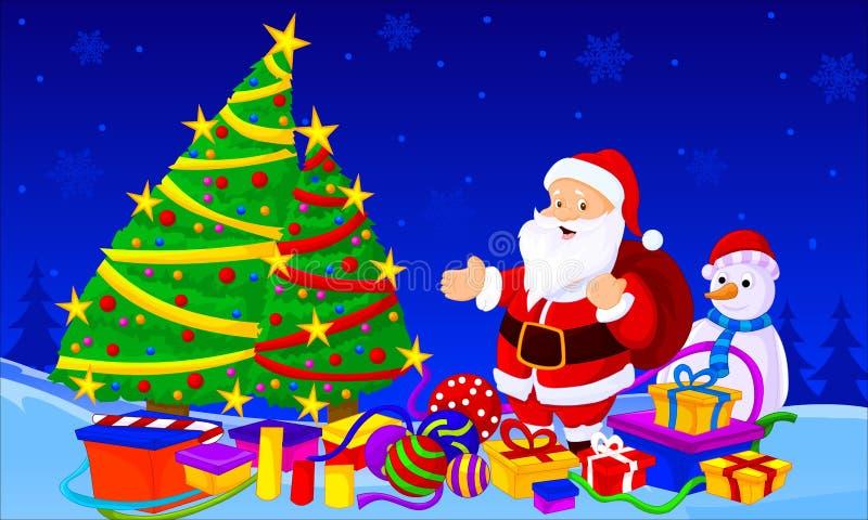 Santa Tree imagen de archivo libre de regalías
