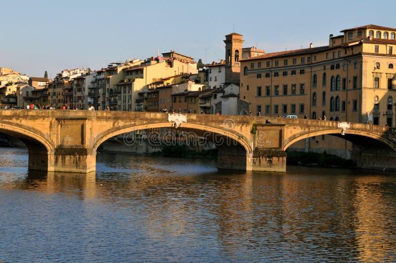 Santa Trinita Bridge à Florence image libre de droits