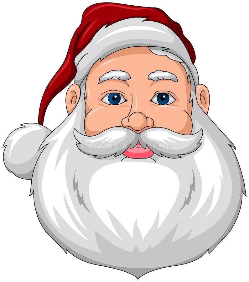 Santa Uśmiechnięty Twarzy przód royalty ilustracja