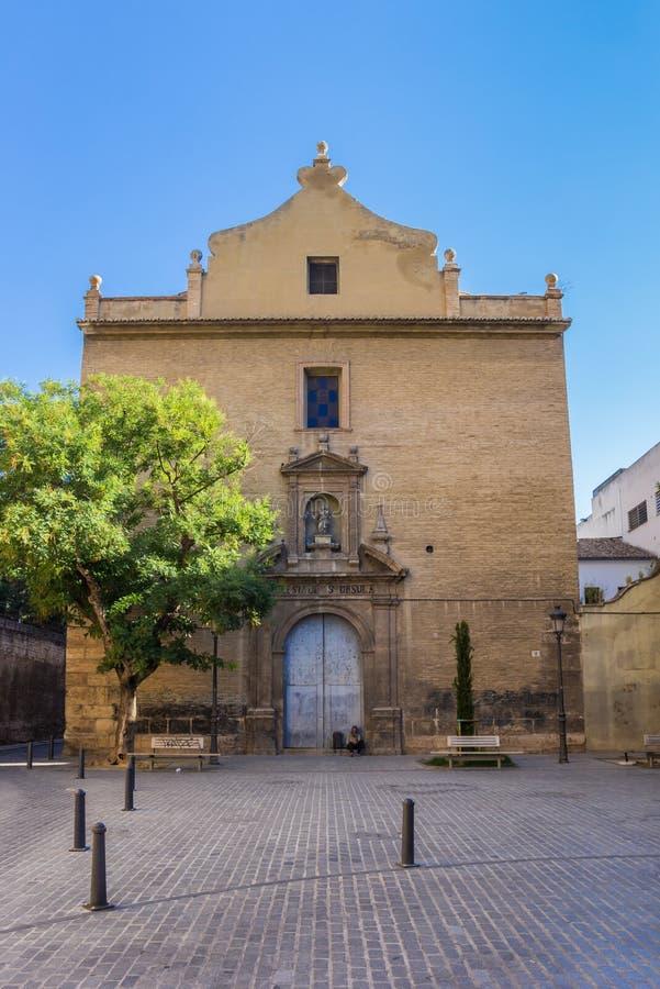 Santa Ursula Church in der Mitte von Valencia lizenzfreies stockfoto