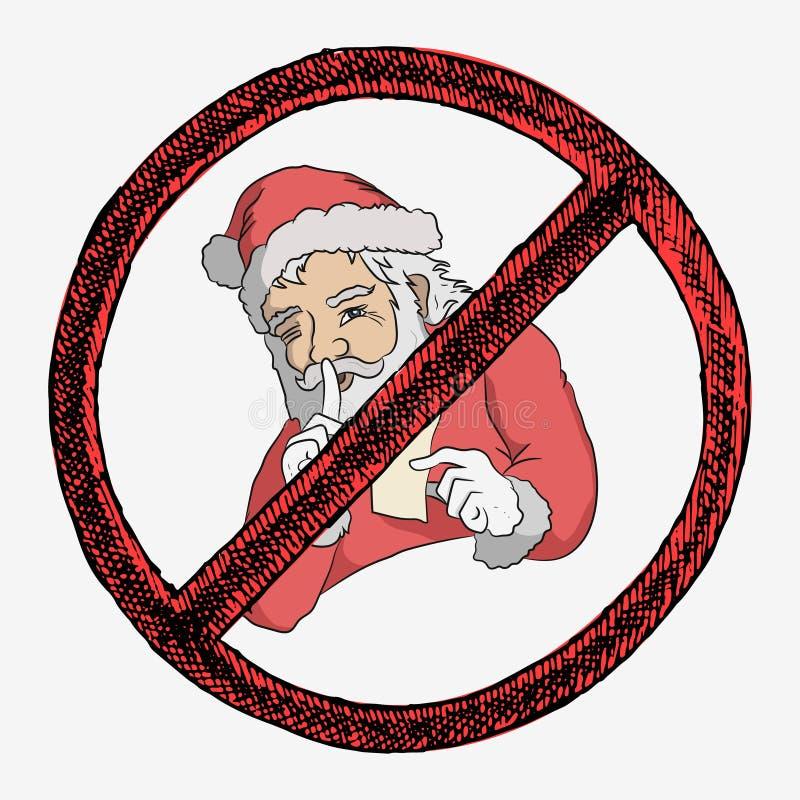 Santa utrzymuje sekret zdjęcia royalty free