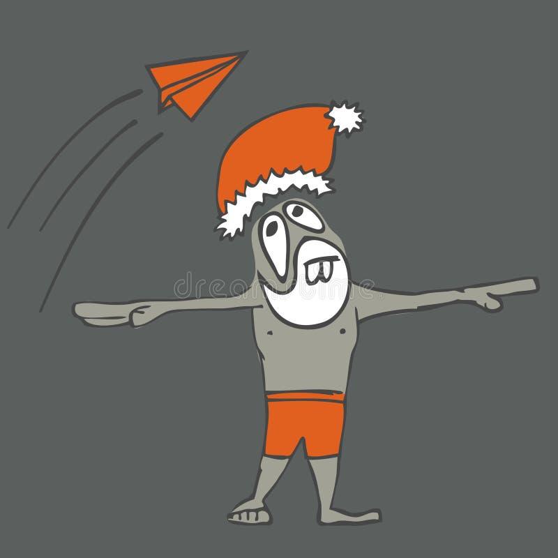 Download Santa on vacation stock illustration. Illustration of artwork - 24201243