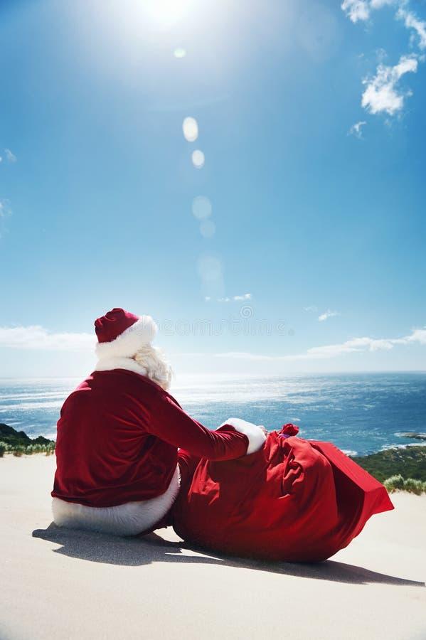 Santa on Vacation royalty free stock photography