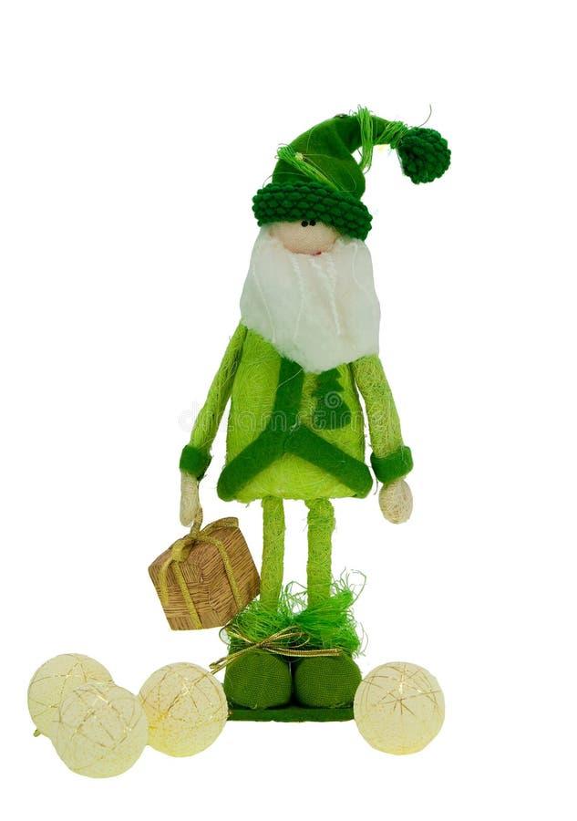 Santa verde immagini stock