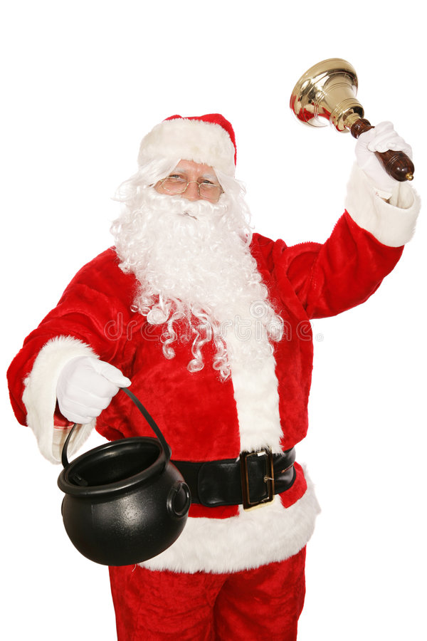 Santa Volunteers Stock Images