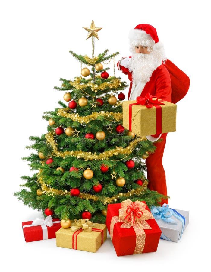 Santa w akci obraz stock