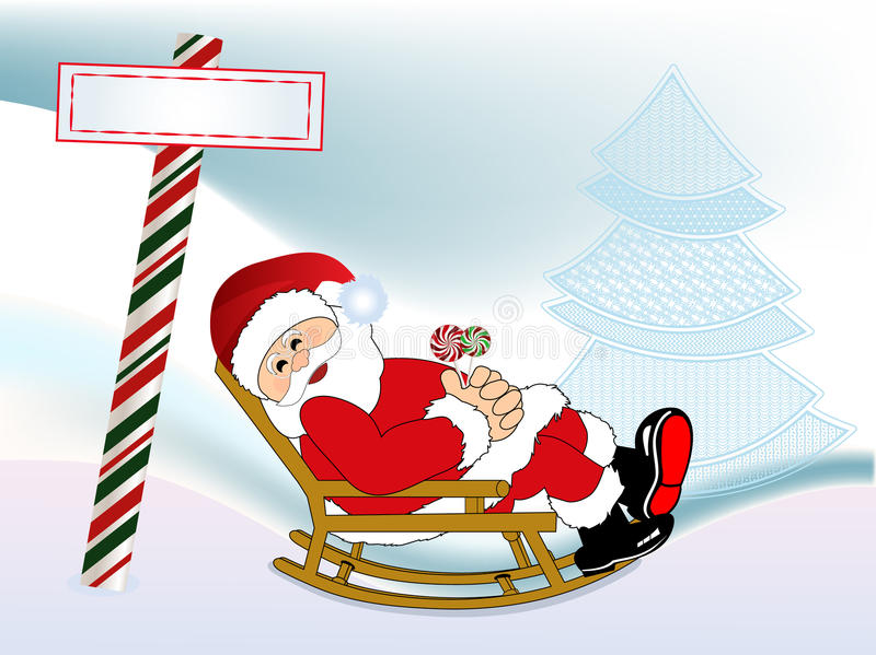 Santa w jego target145_0_ krześle royalty ilustracja