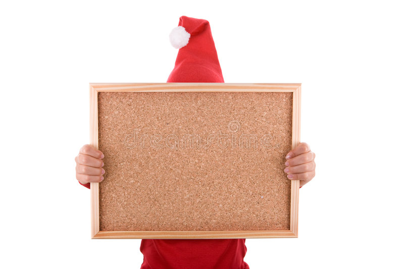 Download Santa Woman Holding Frame With Copyspace Stock Images - Image: 7139004