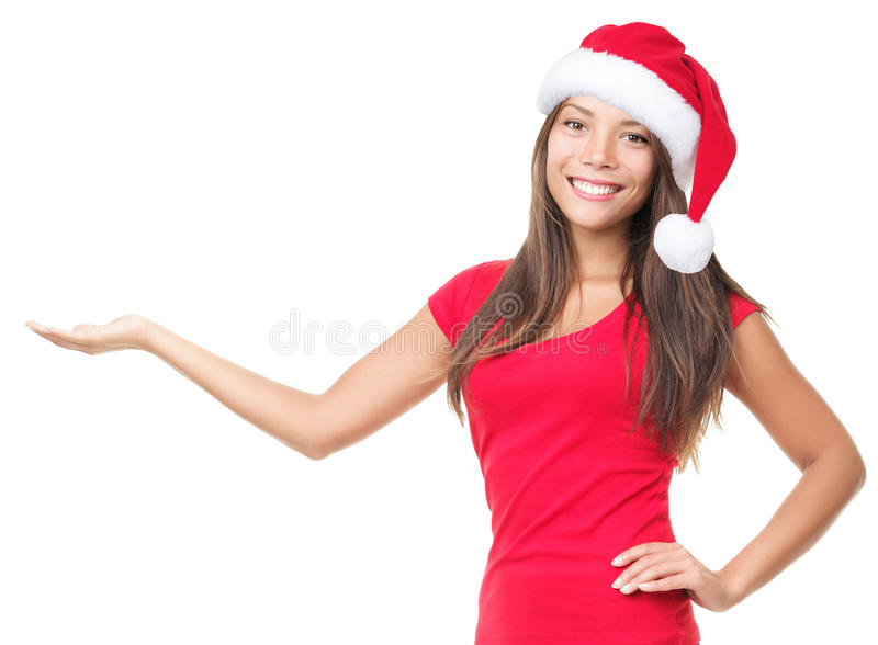 Download Santa Woman Showing Product Royalty Free Stock Images - Image: 16258559