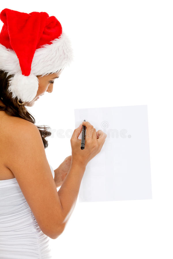 Download Santa woman writing stock image. Image of claus, tradition - 12530061