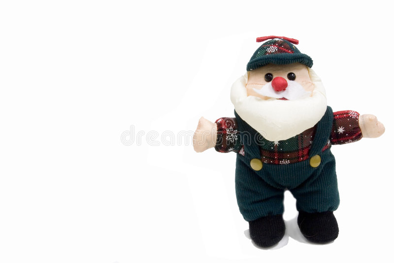 Santa in work clothes stock photos