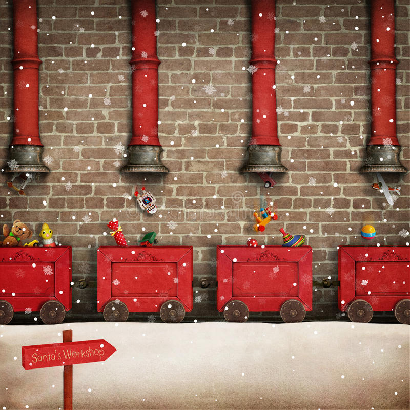 Free Santa Workshop Royalty Free Stock Images - 81012379