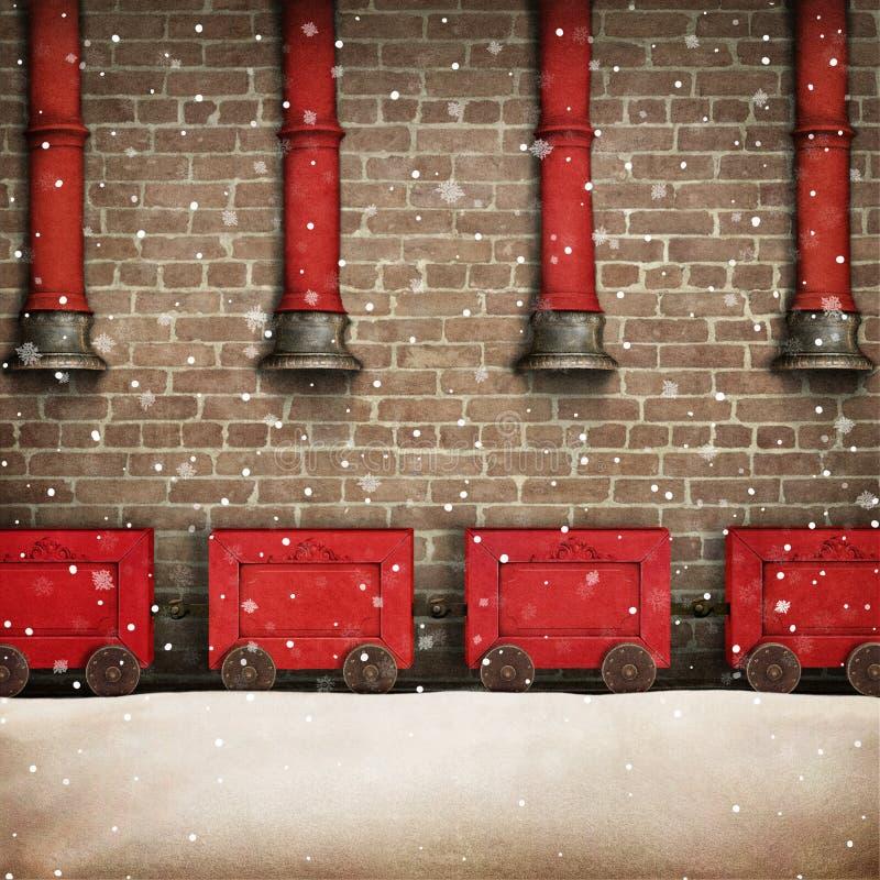 Santa Workshop stock illustrationer