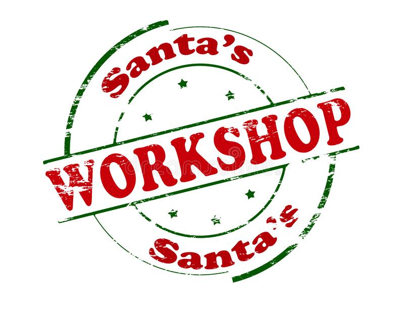 Santa Workshop ilustración del vector