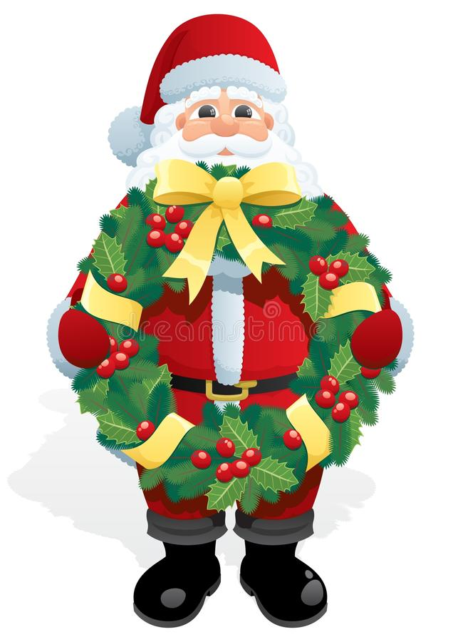 Download Santa Wreath stock vector. Illustration of cute, beard - 15862370
