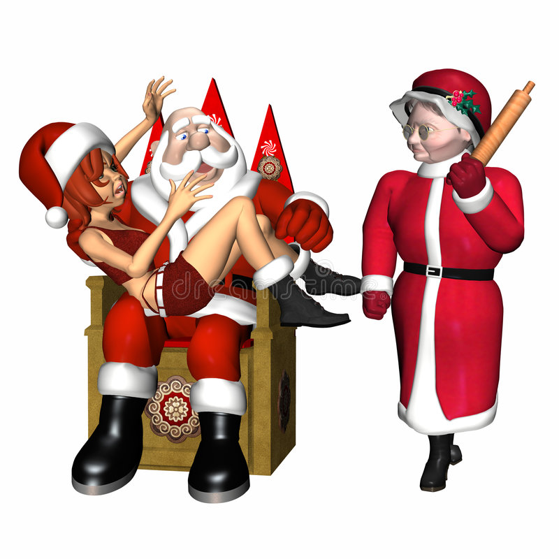 Santa y ayudante 2 ilustración del vector