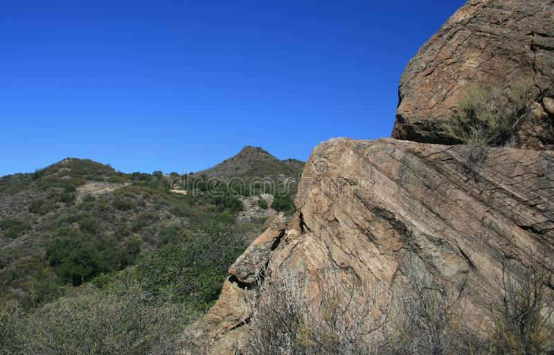 Santa Ynez geology. Sandstone geology in the Los Padres National Forest, Santa Barbara County, CA stock photo