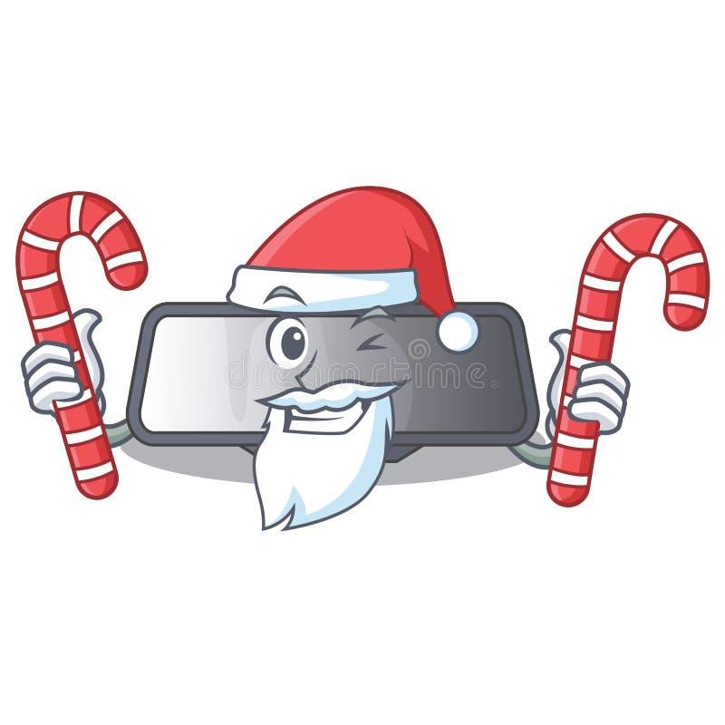 Santa z cukierku tylni widoku lustra miniatura kształta charakterem royalty ilustracja