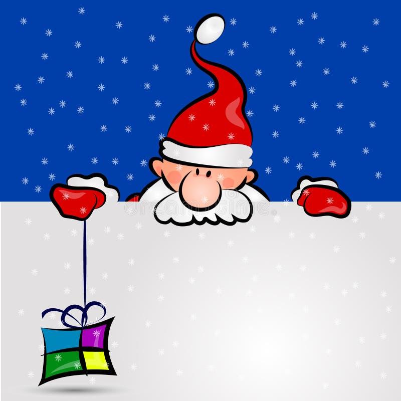 Santa z prezentem obrazy stock