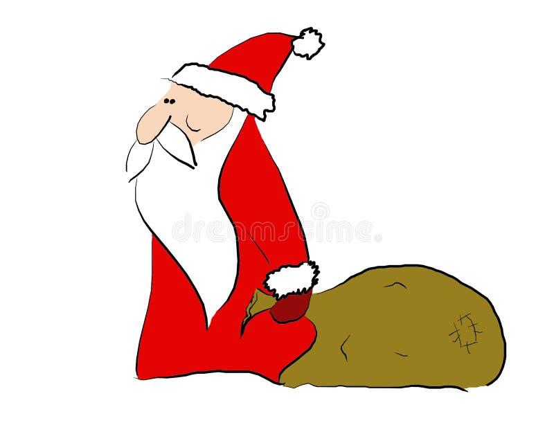 Santa2 vector illustratie