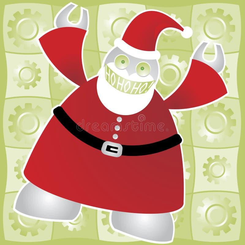 Santabot indique HoHoHo ! illustration de vecteur