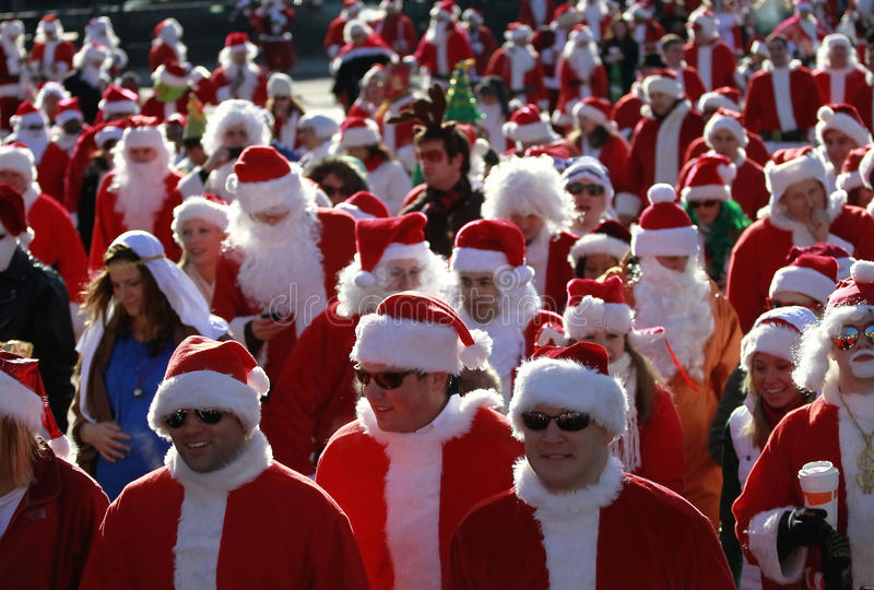 SantaCon à New York photo stock