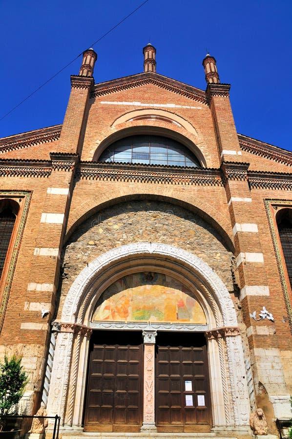 Chruch i Brescia, Italien arkivfoto