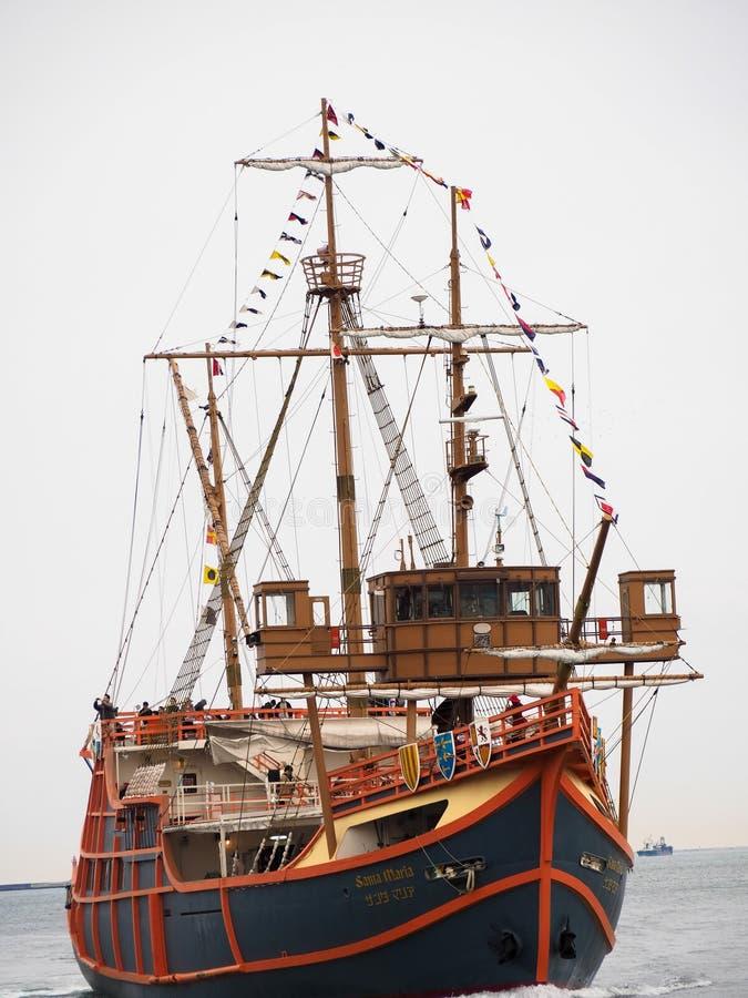Santajachthaven van het cruiseschip stock afbeelding