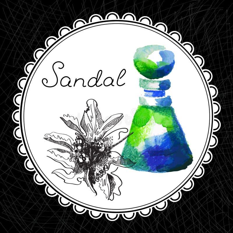 santal illustration stock