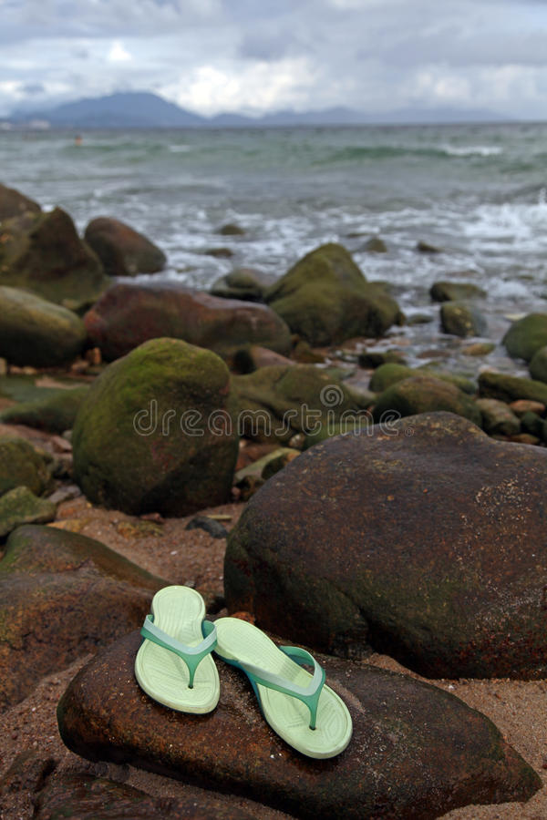 Santals sur la plage photographie stock