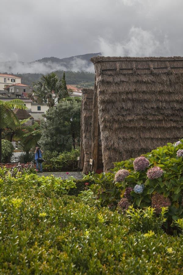 Santana, Μαδέρα, Πορτογαλία, Ευρώπη - παραδοσιακά σπίτια στοκ εικόνες με δικαίωμα ελεύθερης χρήσης