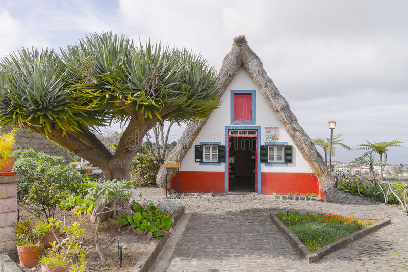 Santana στο νησί της Μαδέρας στοκ φωτογραφίες με δικαίωμα ελεύθερης χρήσης