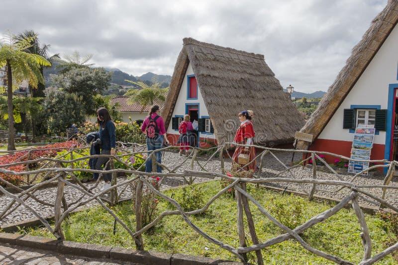 Santana στο νησί της Μαδέρας στοκ εικόνες