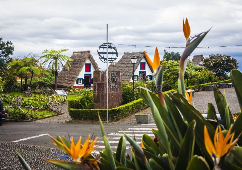 Santana-stad in Madera royalty-vrije stock foto