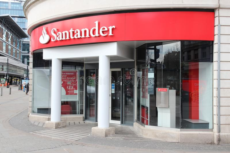 Santander Bank royalty free stock photo