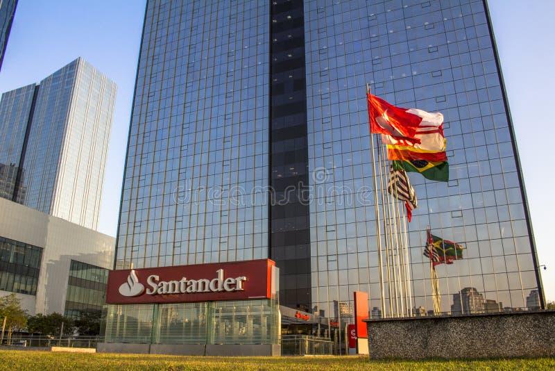 Santander-Bankgebäude lizenzfreie stockfotos