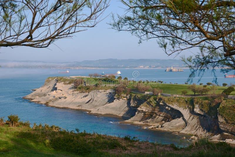 Santander brzegowego widoku prawdziwy pi?kno zdjęcie stock