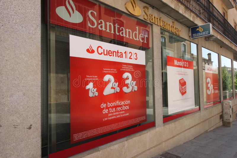 Santander group bank stock photography