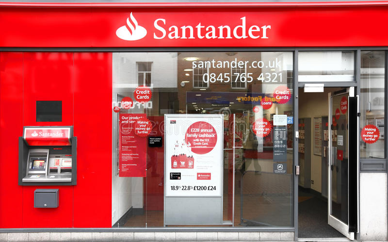 Santander-Gruppenquerneigung Redaktionelles Stockbild