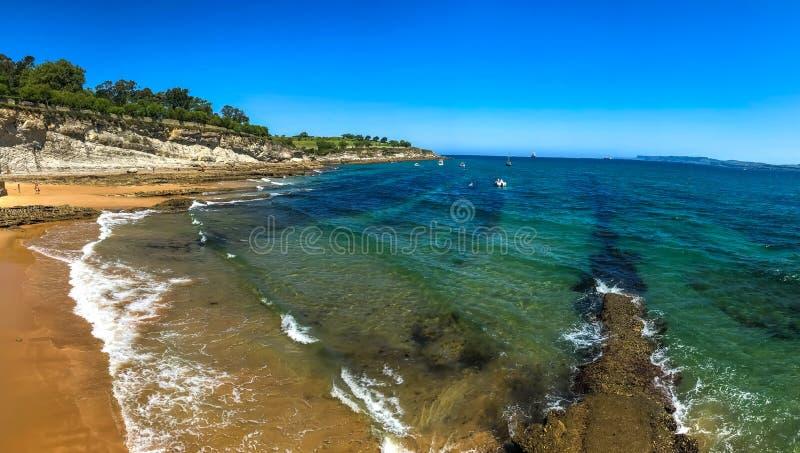 Santander, Spain - Beach on the city stock image